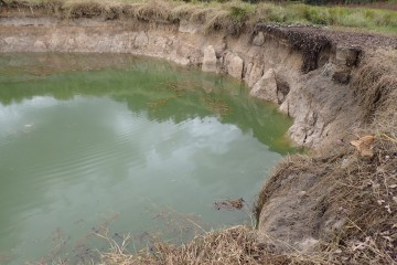 Water in Buck Lake sinkhole in Leon County Florida