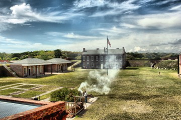 Fort Clinch State Park - Inside the fort