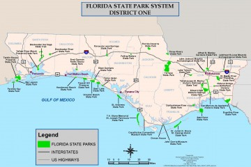 Florida State Parks District 1 Map