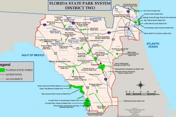 Florida State Map.Florida Park Service District 2 Map Florida Department Of