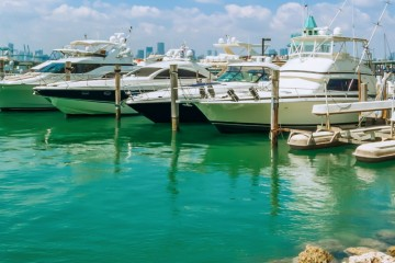 Yachts Marina in Miami Beach
