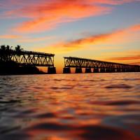 Bahia Honda State Park - Sunset over the bridge