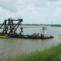 Dredge mining in open water at Palm Beach Mine