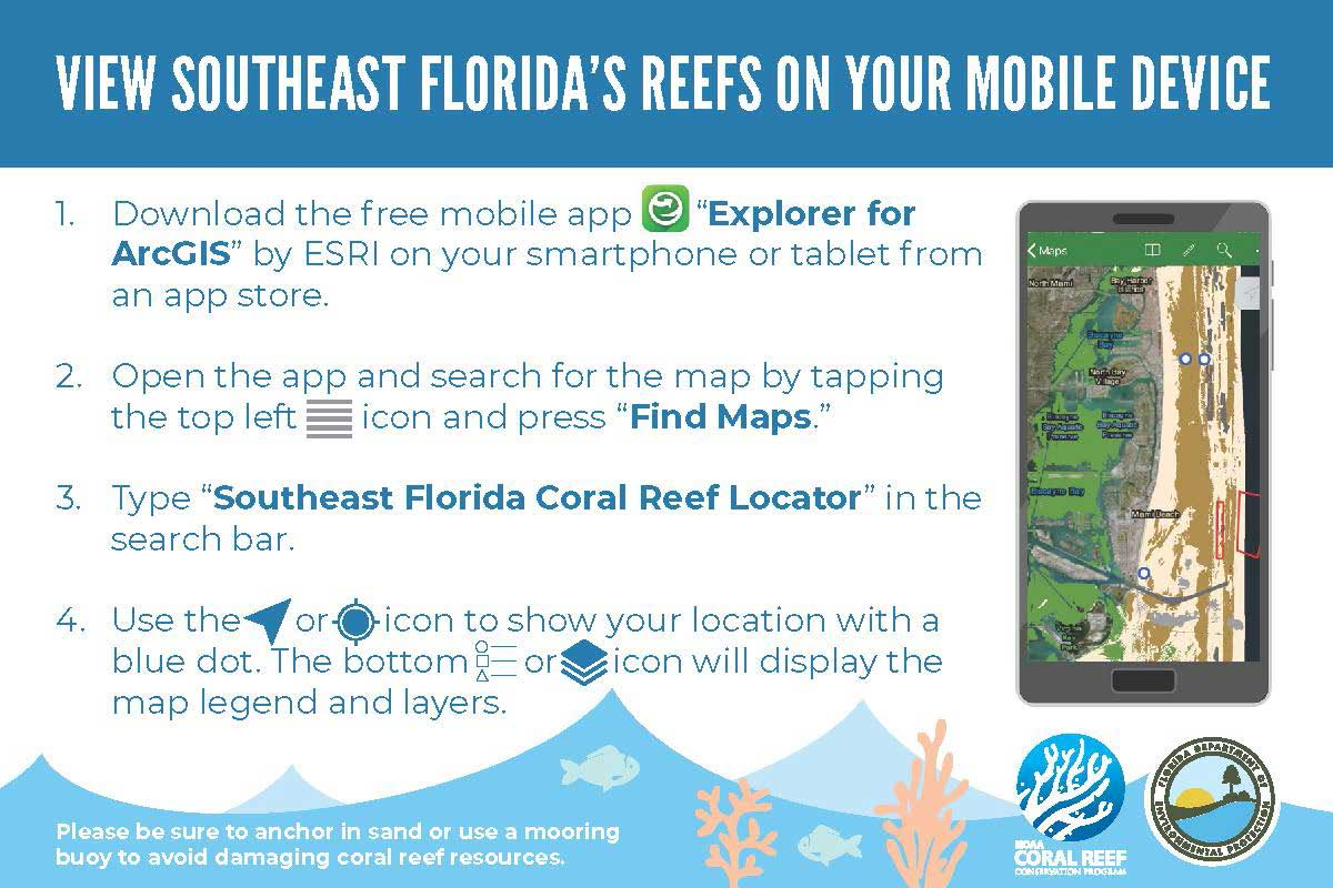 Southeast Florida Coral Reef Locator App Directions 2019-08-21 English