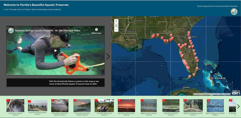 Aquatic Preserve Map