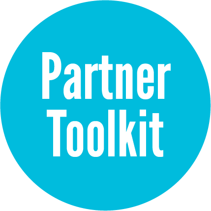 Downloadable resources for partners to share on web and social media