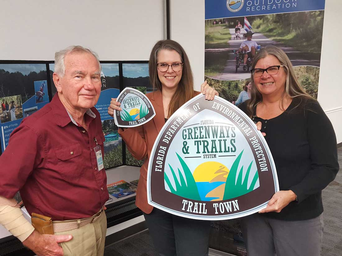 FL Greenways and Trails council  chair and vice chair of the council and the Winter Garden representative