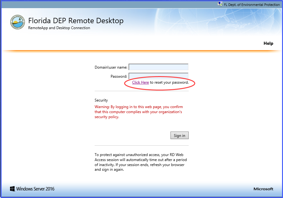 How to change your network password remotely (not expired)