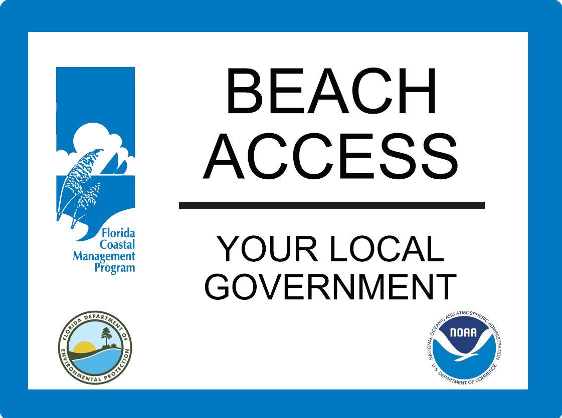 FCMP Beach Access Sign Example