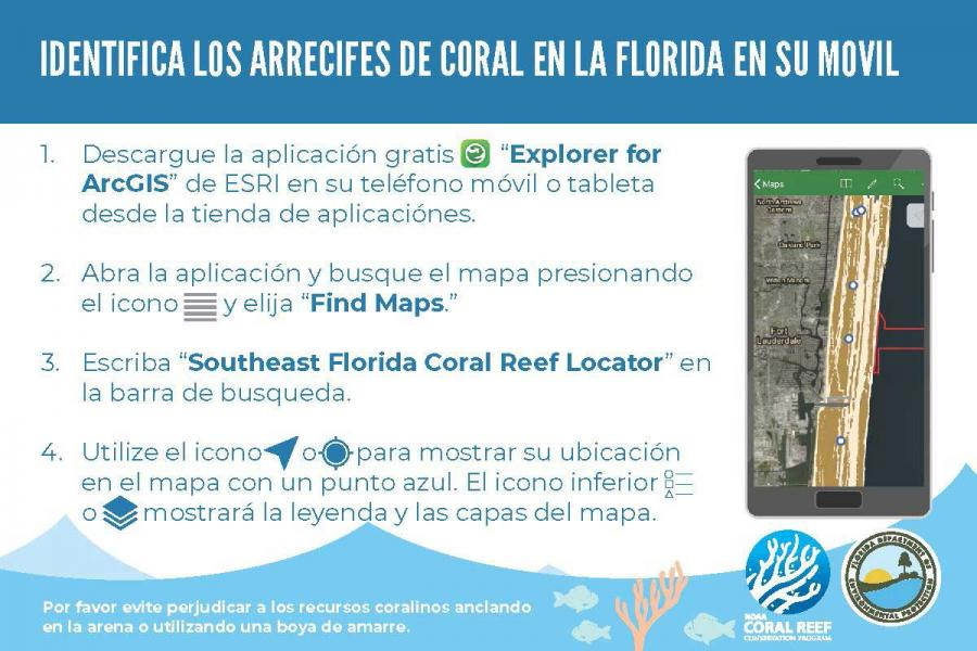 Southeast Florida Coral Reef Locator App Directions 2019-08-21 Spanish