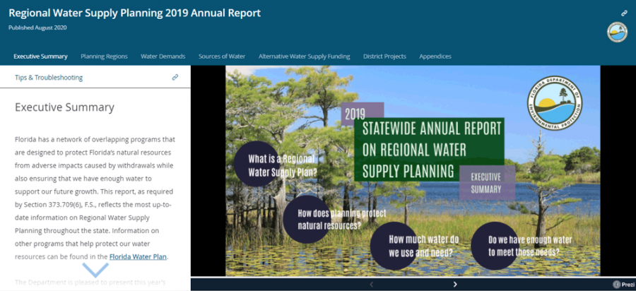 Regional Water Supply Planning 2019 Annual Report