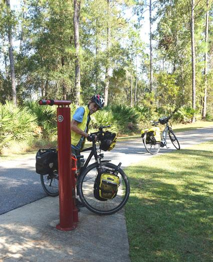 Bicycle repair station in Deltona by Donald Morgan, OGT