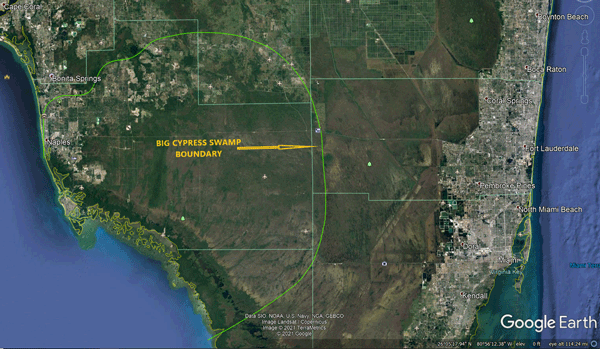 Big Cypress Swamp Boundary