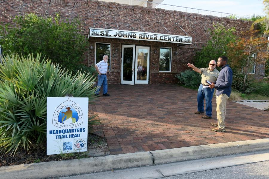 Don Gooding, Kraig McLane and Donald Morgan at Palatka's St. Johns River Center