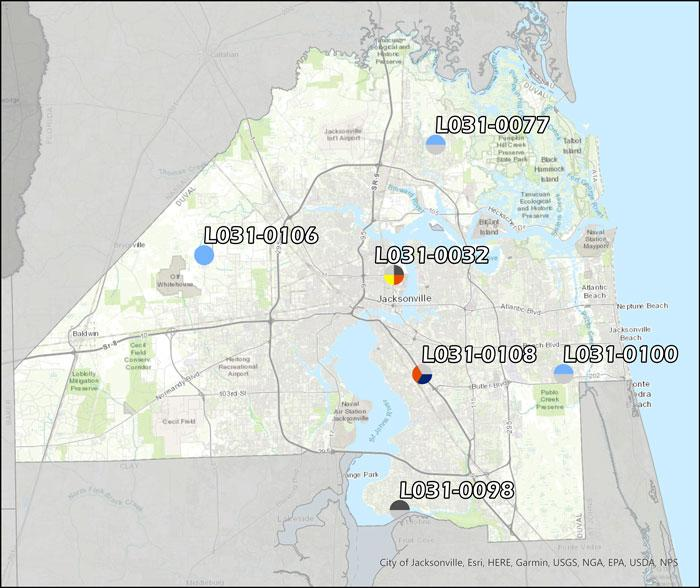 Ambient Air Monitoring Sites in Duval County