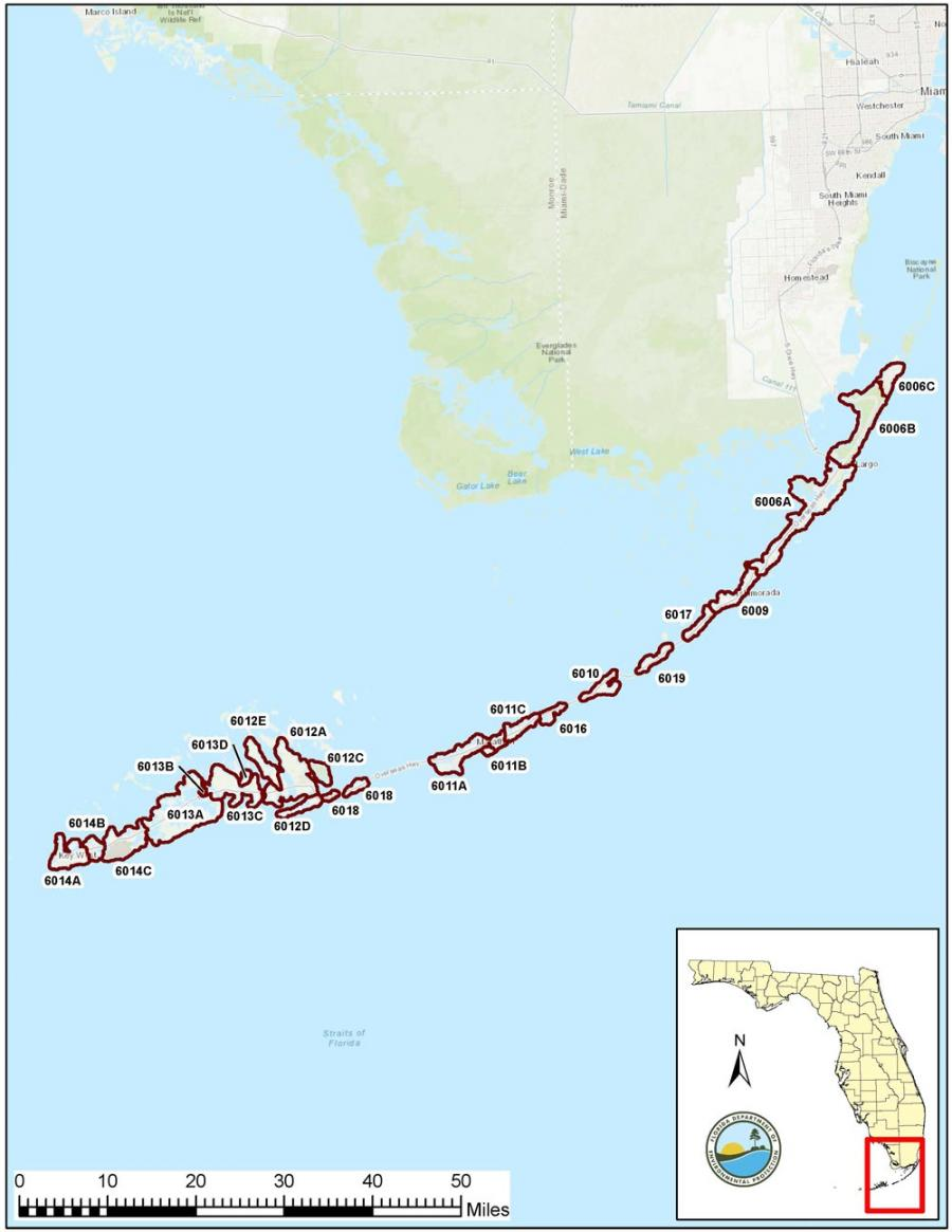 Map Of Florida Keys Florida Keys Reasonable Assurance Plan | Florida Department of