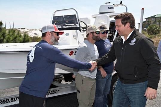 Governor Ron DeSantis Attends the Captains for Clean Water Skiff Challenge Kickoff