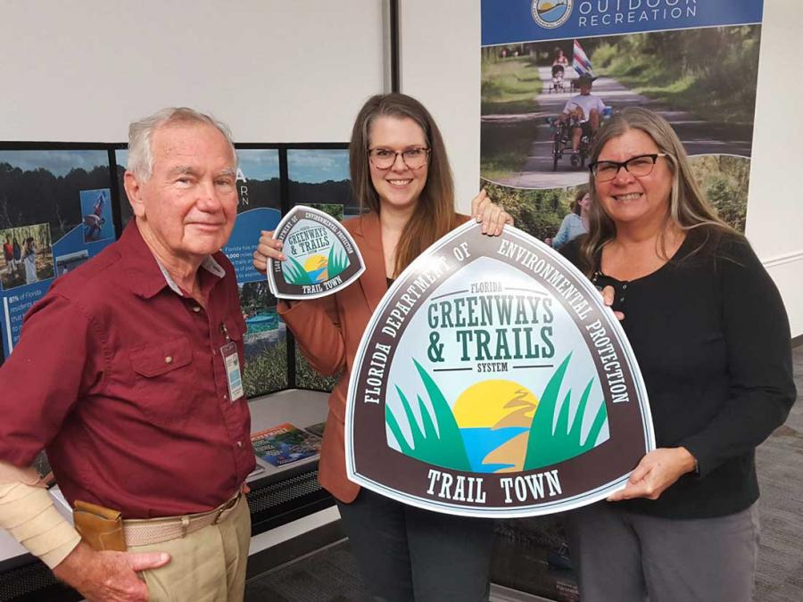 FL Greenways and Trails council chair,  vice chair of the council and the Winter Garden representative