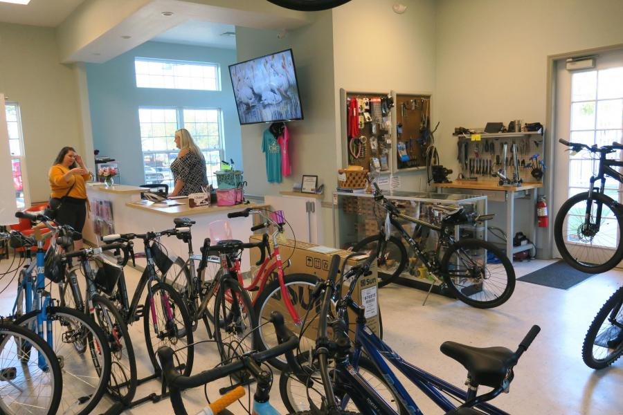 Titusville Welcome Center with bike shop inside, by Doug Alderson, OGT