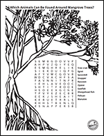 Kid Zone - activities mangrove word search