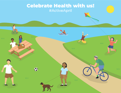 April health month graphic