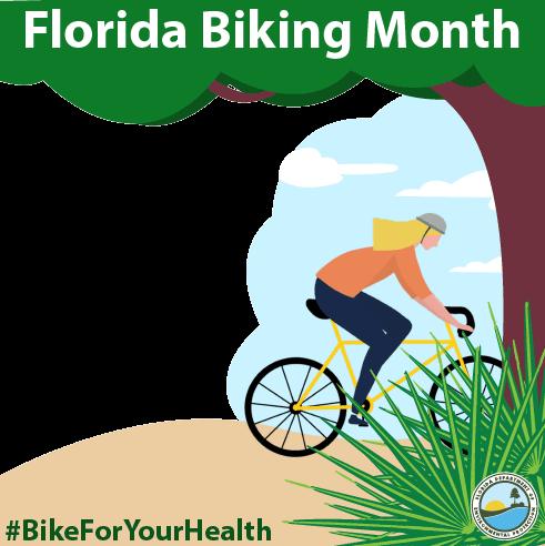 Florida biking month frame