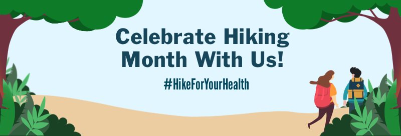 Hiking month banner