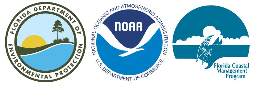 NOAA, FCMP, and DEP logos