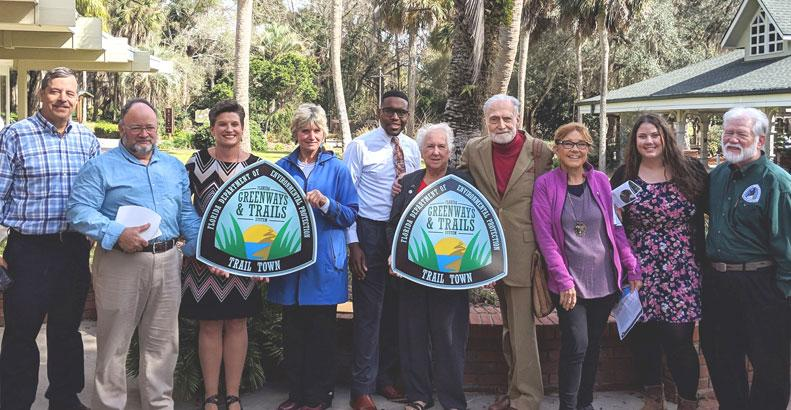 jan 2019 trail town photo with Palatka and Deltona