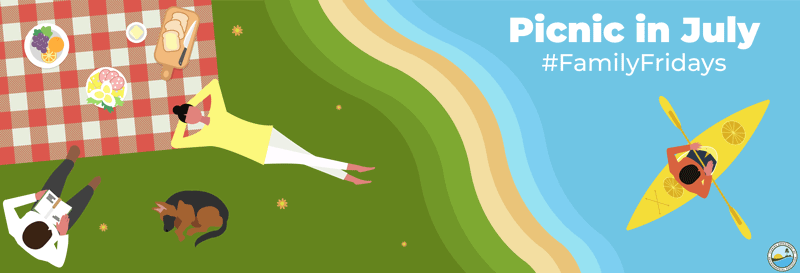 Activity month header - Picnic in July