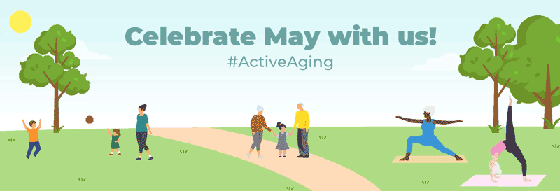 Active Aging Monthly Campaign-May Month Banner