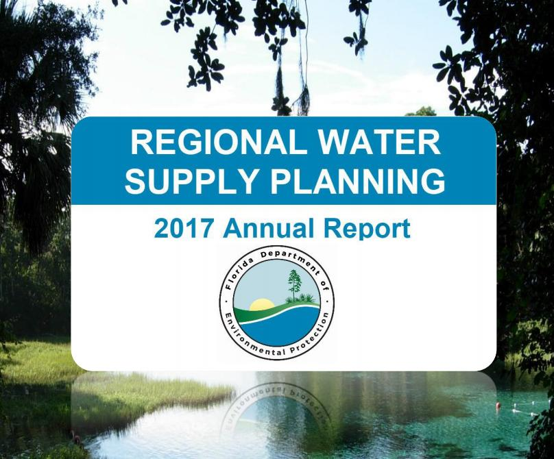 Regional Water Supply Planning 2017 Annual Report cover page