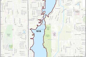 Map of WBID boundaries included in the Lake Seminole alternative restoration plan